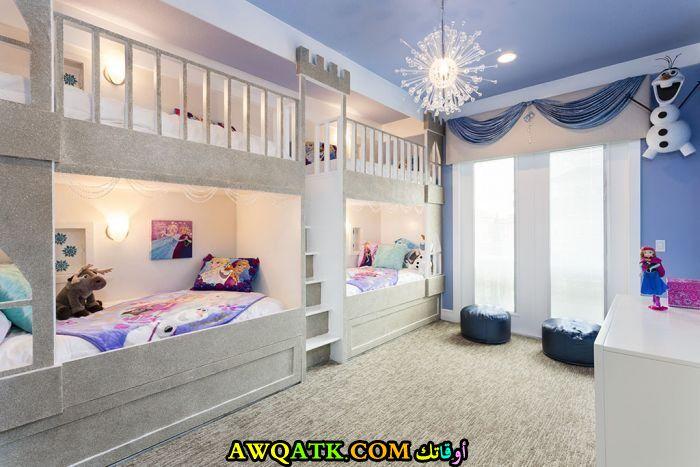 ديكور غرفة نوم فيلا للأطفال فى منتهى الجمال