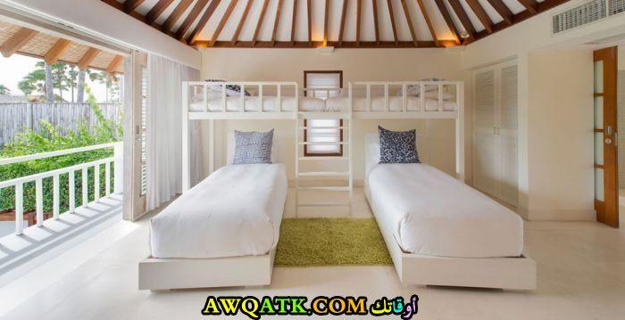 ديكور غرفة نوم فيلا للأطفال هادى ورقيق