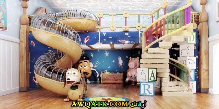 غرفة نوم فيلا للاولاد بتصميم مودرن