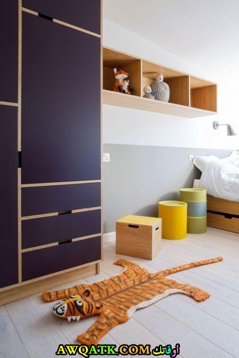غرفة نوم فيلا للاولاد بتصميم هادى ورقيق
