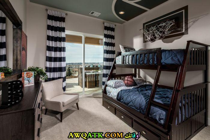 غرفة نوم فيلا للاولاد بتصميم بسيط