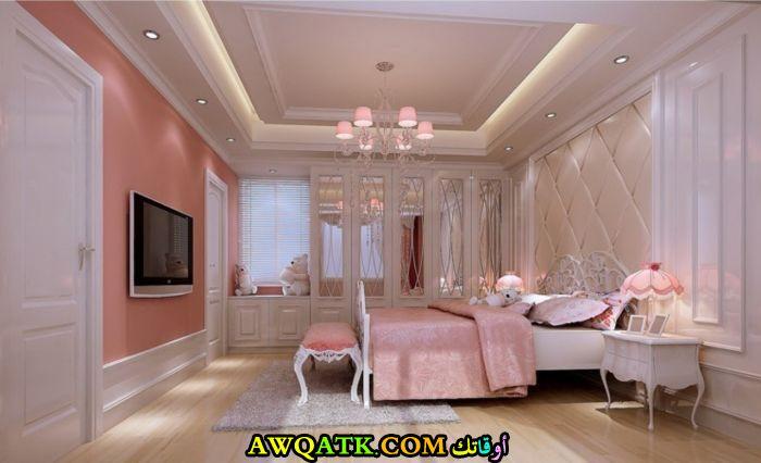 غرفة نوم فيلا للبنات بتصميم راقى جداً وشيك