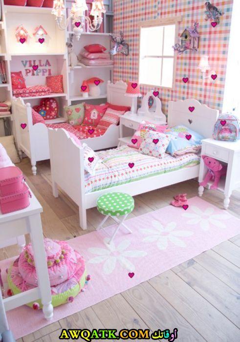 غرفة نوم فيلا للبنات انيقة وجميلة