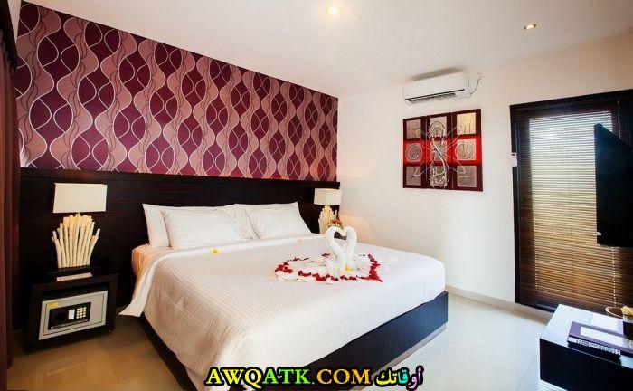 غرفة نوم فيلا للعرسان جميلة جداً وبسيطة