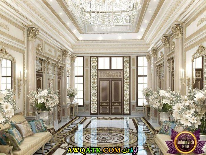 مدخل فيلا عي الطراز السعودي فخم جداً وجميل