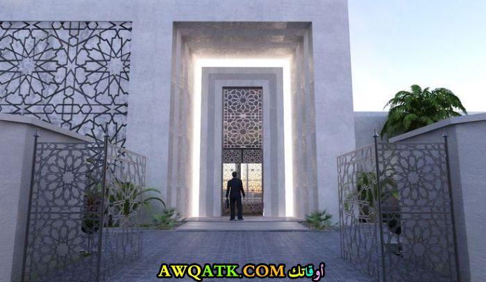 مدخل فيلا عي الطراز السعودي أنيق وهادي