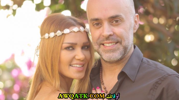 أحلى صورة للفنانة ميسم نحاس مع زوجها