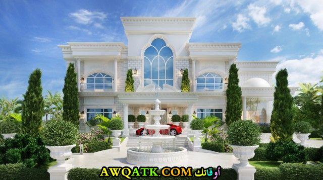 واجهة قصر بتصميم جميل يناسب الذوق الراقي