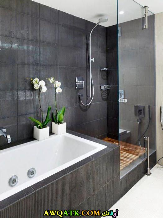 ديكور حمام شاور زجاج جديد وعصري