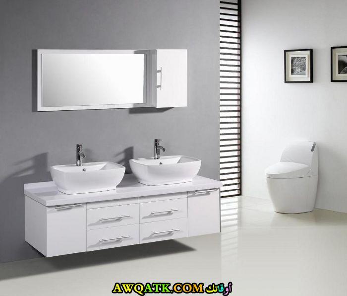 ديكور حمام مودرن عالمي رقيق جداً وشيك