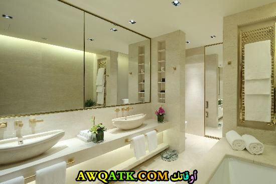 ديكور حمام فنادق خمس وسبع نجوم رائع