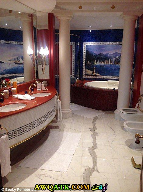 ديكور حمام فنادق خمس وسبع نجوم جميل جداً
