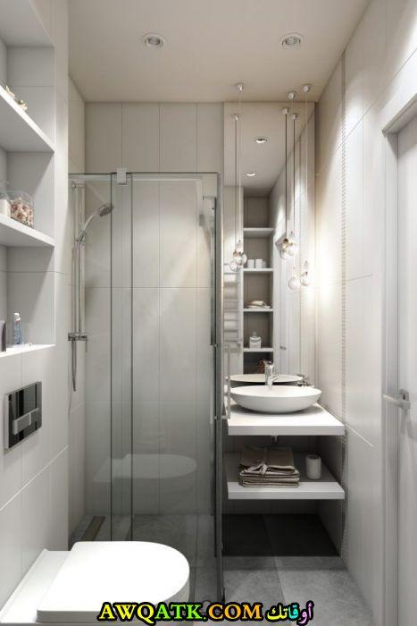 ديكور حمام فنادق صغير بتصميم حلو جداً وشيك