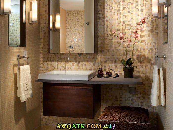 ديكور حمام فنادق صغير فخم فى منتهى الجمال