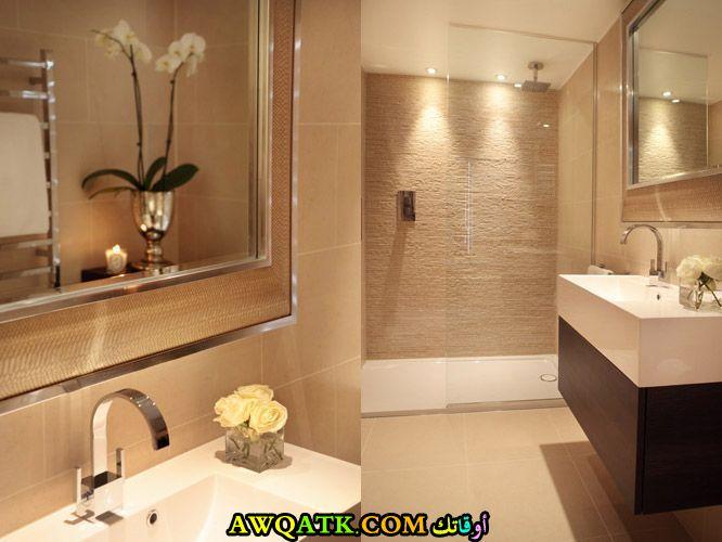 ديكور حمام فنادق صغير قمة فى الجمال والروعة