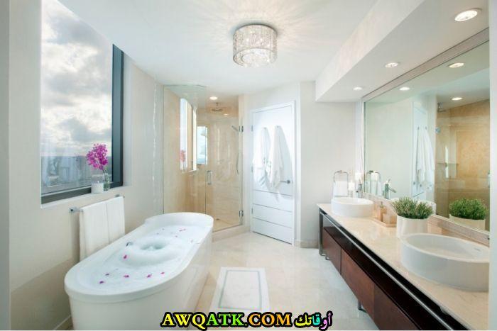 ديكور حمام فنادق فخم جداً ورائع