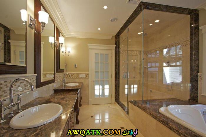 ديكور حمام فنادق فخم بتصميم فى منتهى الجمال والشياكة