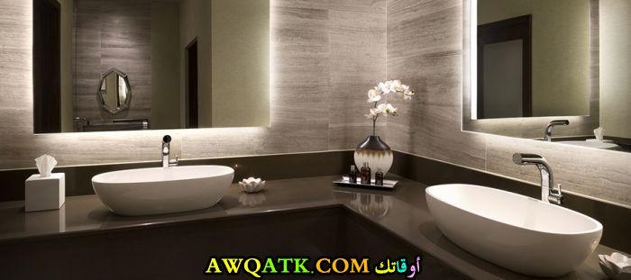 ديكور حمام فنادق فخم جديد وعصرى