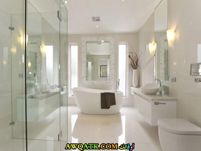 ديكور حمام مودرن جميل جدأً