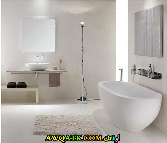 ديكور حمام مودرن قمة الهدوء والجمال