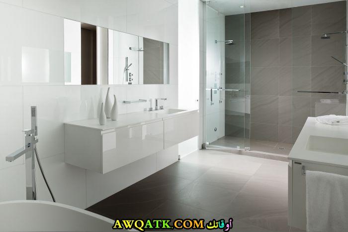 ديكور حمام مودرن يناسب الذوق الهادي