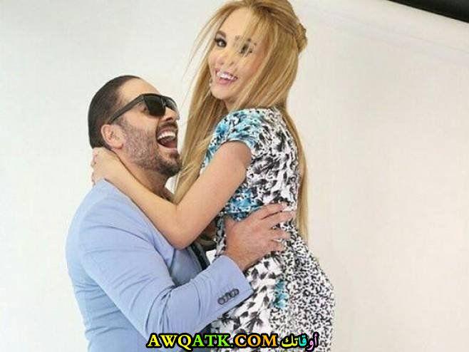 صورة للفنان رامي عياش و زوجته