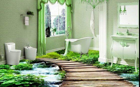 سيراميك حمام ثرى دى قمة فى الروعة