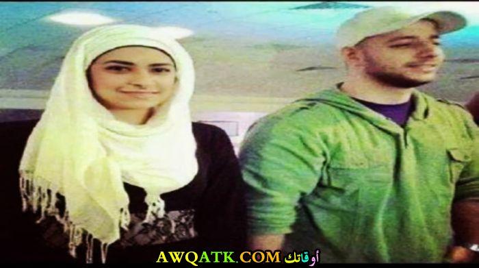 صورة للفنان ماهر زين مع زوجته