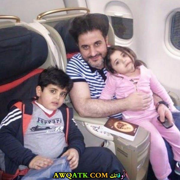 صورة للفنان ملحم زين مع أولاده