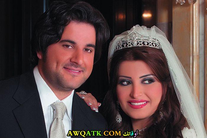 صورة رائعة للفنان ملحم زين مع زوجته