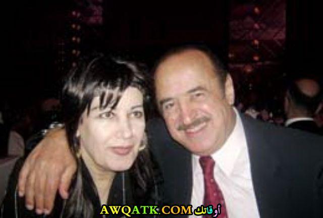 الفنانة مها الصالح مع زوجها