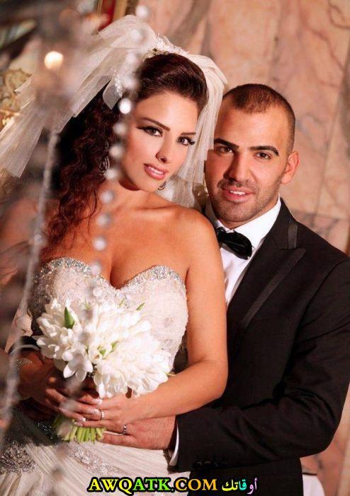 صورة الفنان ناجي الأسطا وزوجته