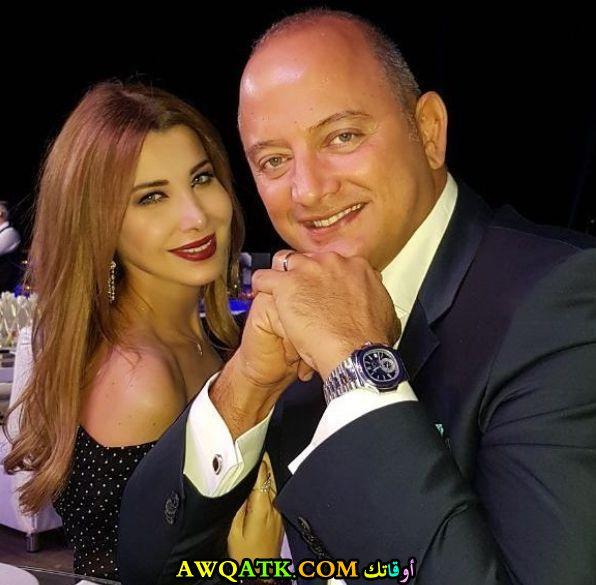 أحدث صورة للفنانة نانسي عجرم مع زوجها