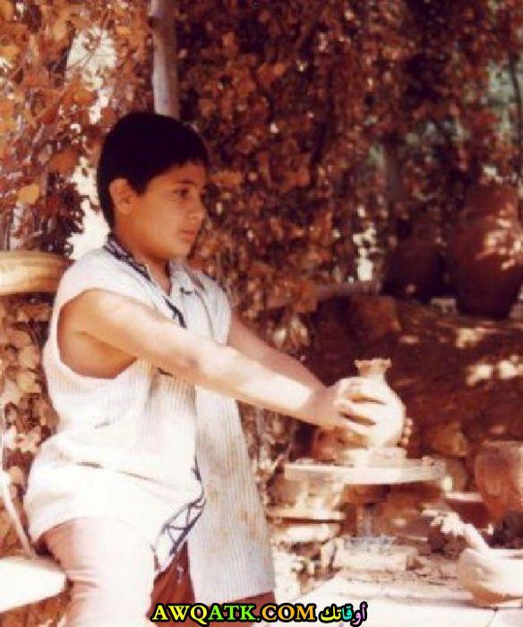 صورة الفنان حازم زيدان وهو صغير