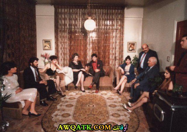 صورة للفنان سعد الدين بقدونس داخل مسلسل