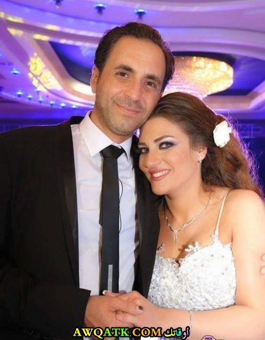 أجمل صورة لعلي صطوف مع زوجته