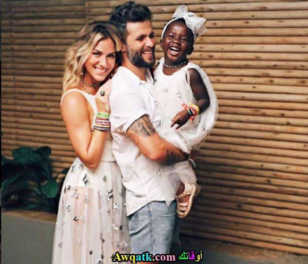 الممثل برونو جاغيلاسو و إبنته و زوجته