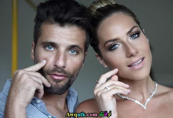 برونو جاغيلاسو و زوجته من حسابه الشخصي إنستجرام