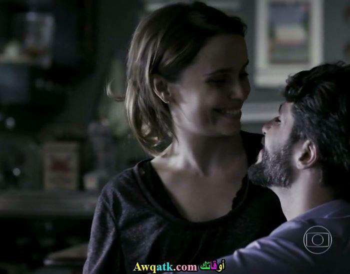 مشهد رومانسي من مسلسل الوجه الثاني