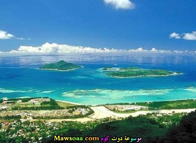 جزر في المياة
