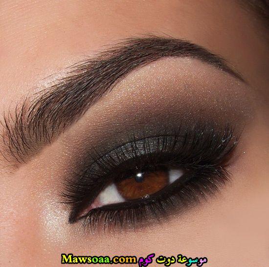 مكياج عيون دخاني أسود
