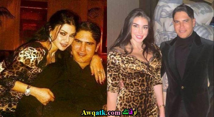 احمد ابو هشيمة و زوجته السابقة و خطيبته بنفس الفستان