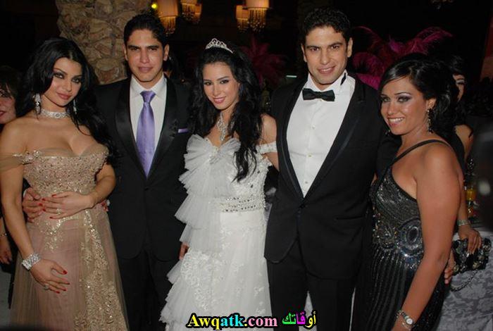 مي ابو هشيمة في زفافها