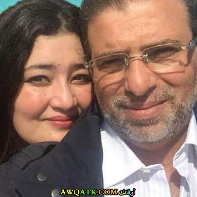 خالد يوسف وزوجته السعودية