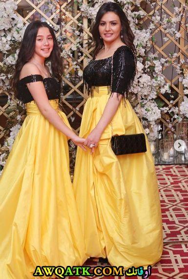 دينا فؤاد وإبنتها