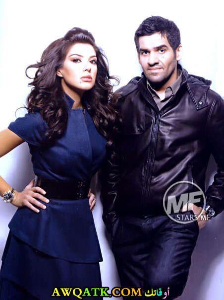 حسين الجسمي وزوجته المغربية