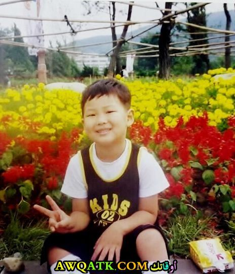 كيم نامجون وهو صغير