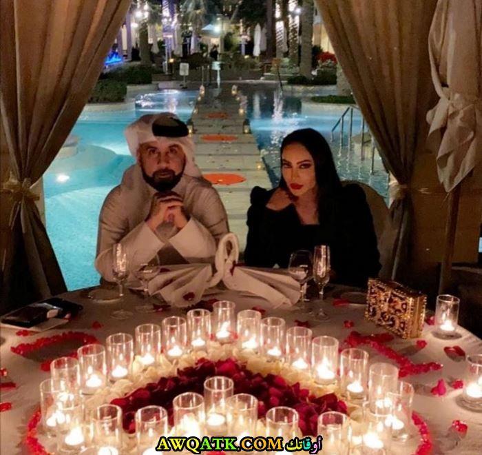 فوز الشطي وزوجها