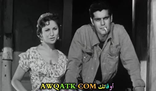 عمر الشريف وفاتن حمامة