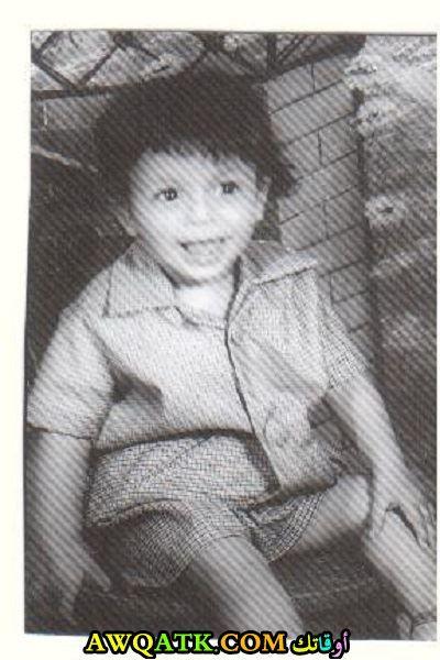 مصطفى شعبان وهو صغير